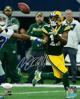 PACKERS Davante Adams signed photo 8x10 vs Cowboys JSA COA AUTO Autographed