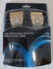 HIGH PERFORMANCE GOLD FLAT SCART TO SCART CABLE 1.5M - New & Sealed