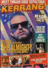 The Almighty on Kerrang Cover 1993    Megadeth   Pantera Poster