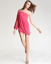Laundry ~ Pink Jersey One-Shoulder Long Sleeve Draped Clubwear Dress 12 NEW $295