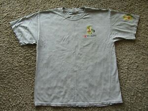 """Creme King of Baits """"I Love my Worm"""" Men's XL Graphic Cotton Gray T-Shirt"""