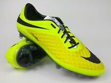 Nike Men Rare Hypervenom Phantom FG 599843 700 Yellow Black Cleats Boot Size 13