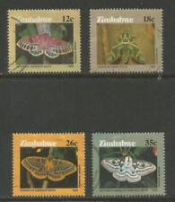 Zimbabwe 1986 Local Butterflies--Attractive Insect Topical (529-32) fine used