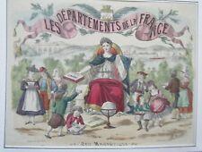 CHROMOLITHOGRAPHIE 20ème LES DEPARTEMENTS DE LA FRANCE JEU MAGNETIQUE