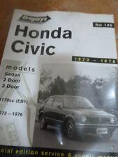 GREGORY'S 140 HONDA CIVIC 1973-1976 SERVICE AND REPAIR WORKSHOP MANUEL