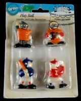 Wilton Play Ball Candles & Cake Decor Decorations 1 Package with set of 4 1991