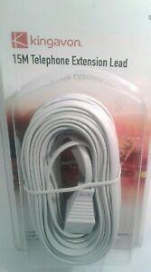 KINGAVON 15M TELEPHONE EXTENSION LEAD (TE1206)