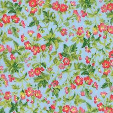Moda Fabric Wildflowers IX Dogwood Blossom Bluebell - per 1/4 Metre