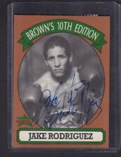 Jake Rodriguez 1994 Brown's 10th Edition Boxing Autographed Signed w/Stub jh59