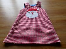 Size 4 The Bailey Boys Reversible Red White Checked Christmas Santa Dress Hearts