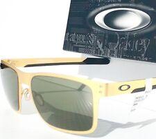 Oakley Holbrook Metal Satin Gold Dark Grey Sunglasses 4123-08