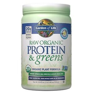 Garden of Life Raw Protein &Amp; Greens, Real Raw Vanilla, 19.3 oz (548 g), 1...