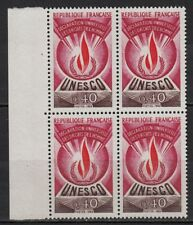 W48* Timbres Neuf**MNH TBE Bloc de 4 (1969-1971) n°40 Service / Unesco