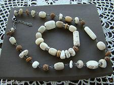 Silpada SET, White Howlite African Opal Necklace N1692 & Bracelet B1655  Retired