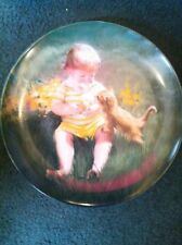 "Donald Zolan Collector Plate: CONE FOR TWO (children) 6 1/2""-1990 P&O Dealer NIB"