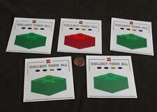 FIVE! Lego, Collect Them All 4x4 Lego Block Stickers  RED & GREEN