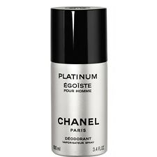 CHANEL PLATINUM EGOISTE POUR HOMME Deodorant SPRAY 3.4 OZ