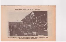 Player Pic from 1976-77 FOOTBALL Annual - RANGERS with Cup + Dalglish SCOTLAND