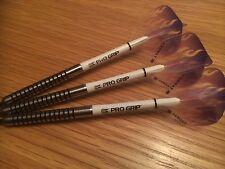 R4 23g Nodor Tungsten Darts Set, Target Purple Flame Flights, & Pro Grip Stems
