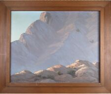 """""""Canyon Shadows"""" by John William Hilton Oil on Canvas 31"""" x 37"""" Signed & Titled"""