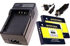 2 x  Patona Akku + Ladegerät  für Canon Digital Ixus 160  / NB-11L