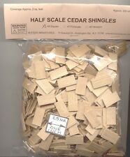 Half Scale 1/24 - Shingles Square Butt #45 Split Wood 900pcs dollhouse made USA