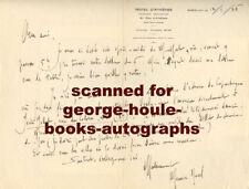 MAURICE RAVEL~LETTER TO ASSISTANT~ AUTOGRAPH 1926~ JEAN JOBERT