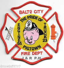 """Baltimore City  Engine-55 / Truck-23  """"Pigtown"""", MD (4.25"""" x 4.25"""") fire patch"""