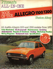 Austin Allegro 1100/1300  Pitman's All in One Owners Handbook models 1973 on