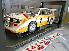 AUDI Quattro S1 E2 Sport Gr.B Rallye Monte Carlo 1986 #2 Röhrl + HB IXO 1:18