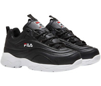 New Fila Women's Disarray Sneakers Athletic Shoes, Black/White/Red Size 7.5, 8