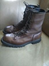 Red Wing Logger Brown Leather Gore Tex Waterproof Lace Up Work Boots Mens 14 D