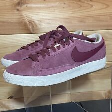 Womens Nike Blazers Trainers UK 7 Mauve Low Sneakers Suede