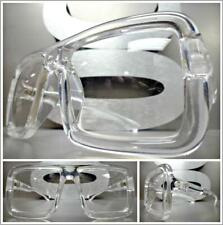 OVERSIZE EXAGGERATED Retro Clear Lens EYE GLASSES Large Square Transparent Frame