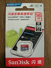 SanDisk Micro SD Card 16GB  A1 TF Class 10 Speed 98mb/s Android Samsung