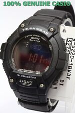 W-S220-1B 120 Lap Memory Casio Watch Tough Solar Sporty Black WS-220-1