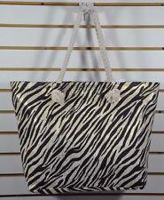 NWT Women's BLACK RIVET, Large SUMMER Woven Shoulder TOTE Bag. $40-Zibra
