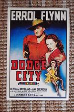 Dodge City Lobby Card Movie Poster Western Errol Flynn