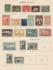 ARMENIA: 1921-1922 Examples - Ex-Old Time Collection - 2 Sides Page (36624)