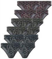 NEU: 12 STCK!!! SLIPs ALLOVER KARO 4x grün 4x rot 4x blau GR.3 LE JOGGER *618278