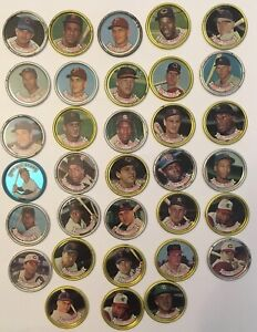 1960's_Topps Baseball Coins - Collection of 33 Coins