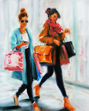 Shoppers on the Go!: Beautiful Art Greeting Card