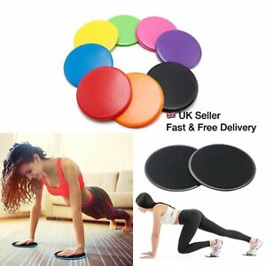 Core Sliders Pair Abs Abdominal Fitness Gliders Bums Leg Slide Discs Exercise