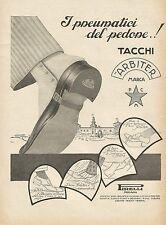 Y0900 Tacchi Arbiter - I pneumatici del pedone - Pubblicità 1928 - Advertising
