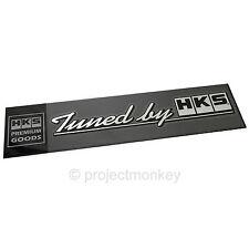 "HKS 51003-AK118 ""Tuned by HKS"" Decal Logo Sticker Emblem Genuine Part JDM"