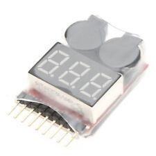 3X 1 8S Digital Display Anzeige RC Li Ion Lipo Batterie Tester Low Voltage Alarm
