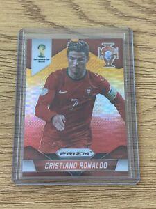 2014 Panini Prizm World Cup Cristiano Ronaldo Yellow & Red Pulsar Prizm Portugal