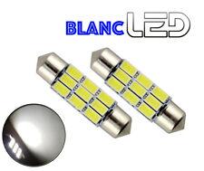 2 Ampoules navette LED BLANC pur C5W 36 mm 36mm Résistances anti erreur Canbus