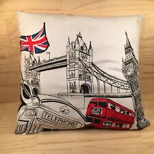 "LONDON ""White"" Beautiful Little Decorative Cushion Plush Bedding Pillow (45cm)"
