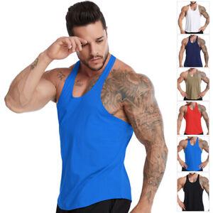 Running Men Cotton Vest Bodybuilding Top Shirts Singlet Fitness Yoga Sports Tank